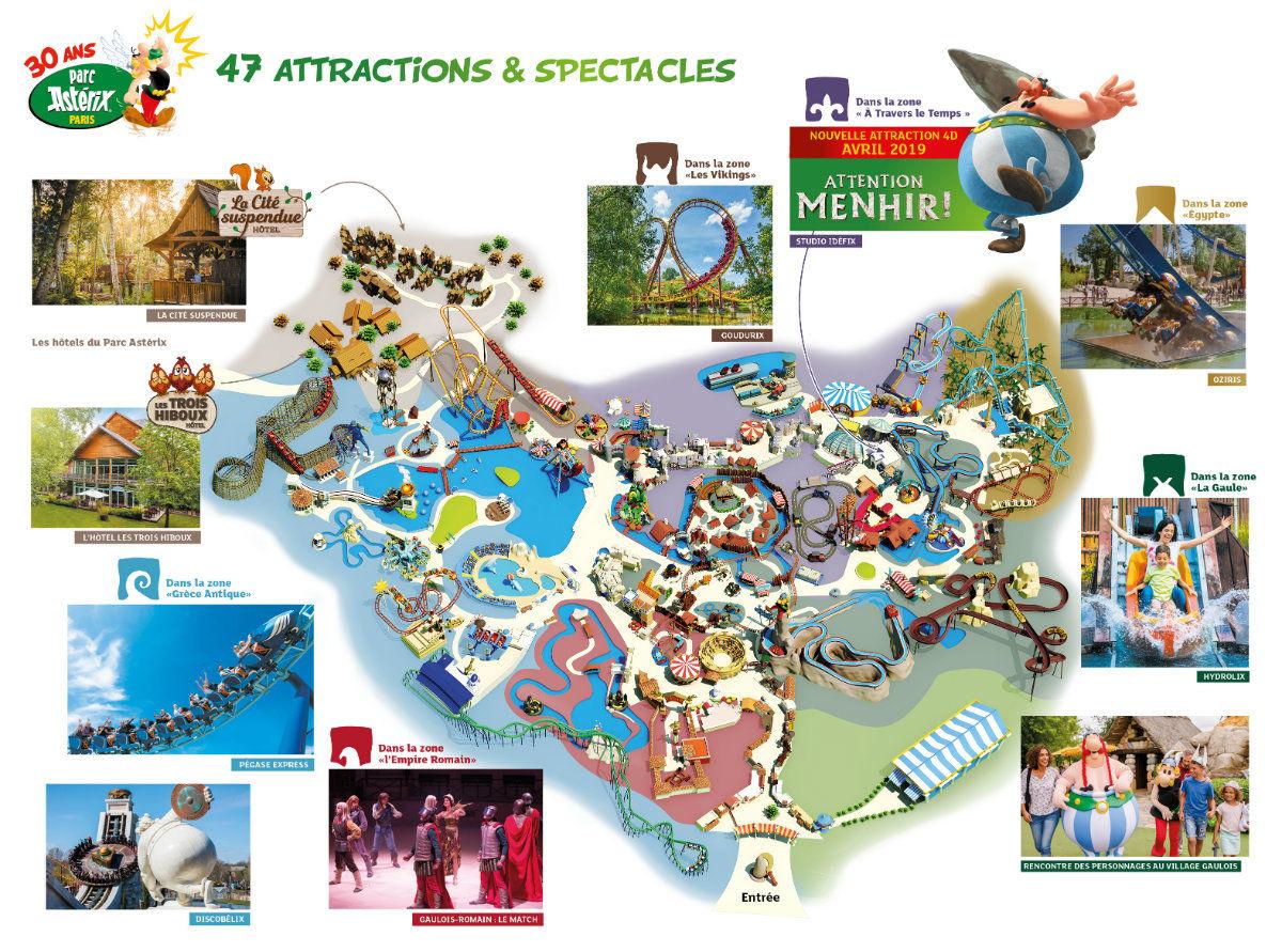 Plan du parc Astérix