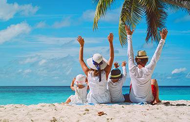 Séjour au soleil en famille