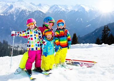 Enfants au ski