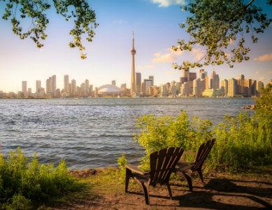 Ville de Toronto vue du Lac Ontario, Canada