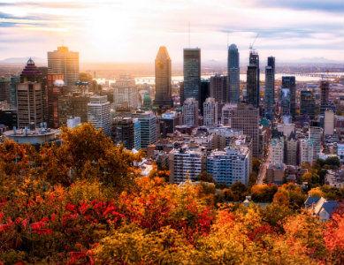Montréal vue du Mont Royal, Canada