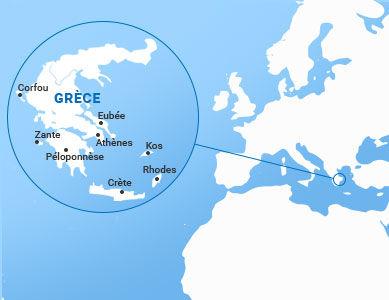 Carte de la Grèce et ses îles