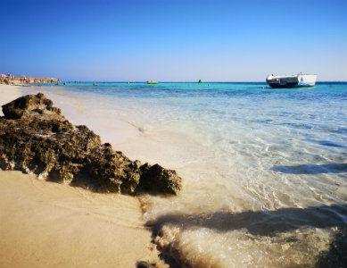 Plage de la mer Rouge Egypte