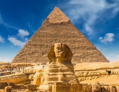 Pyramide de Gizeh et Sphinx, Egypte