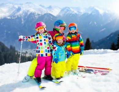 Ski en famille dans les Alpes, France