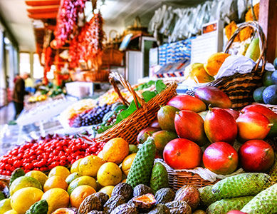 Madere Funchal marché fruits exotiques