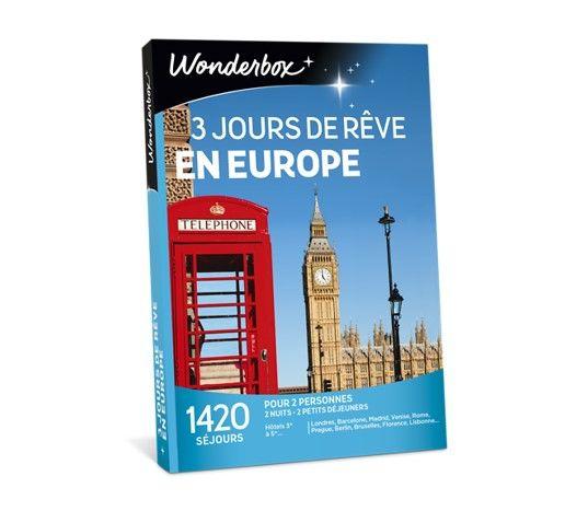 Wonderbox 3 jours de rêve en Europe