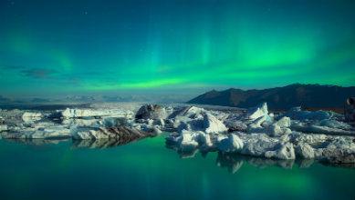 Aurore boréale en Islande