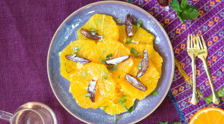 Salade d'oranges et dattes à la marocaine
