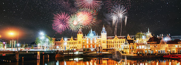 Feu d'artifice Nouvel An à Amsterdam
