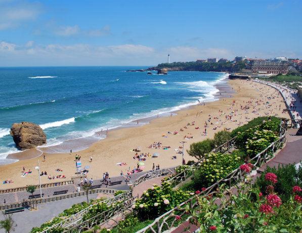 Plage de Biarritz, France