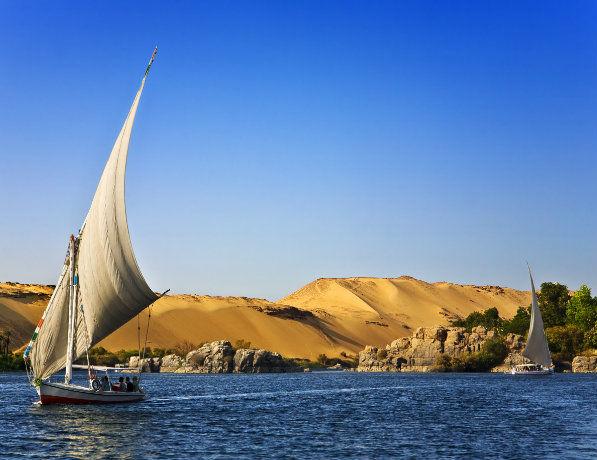 Voilier sur le Nil, Egypte