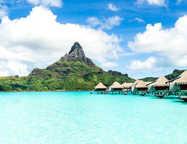 Plage de Bora Bora, Polynésie