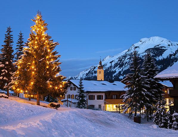 Noel à la montagne en France
