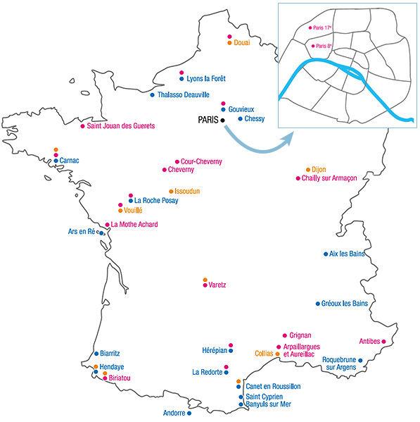Escapades romantiques en France