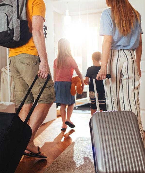 Famille qui part en vacances