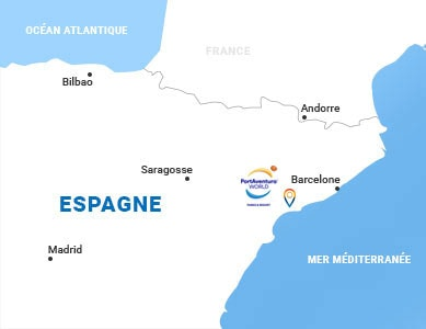 Carte situation Portaventura en Espagne
