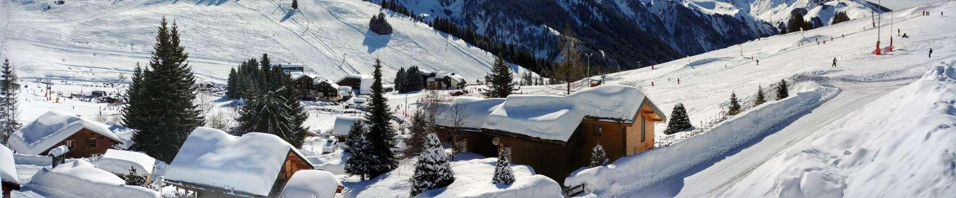 Station la clusaz Alpes France